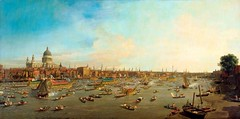 Canaletto - The Lobkowicz Collection. The River Thames with St. Paul's Cathedral on Lord Mayor's Day (c. 1750) (lack of imagination) Tags: people water buildings boats blog cityscape canaletto 7001000 lobkowiczcollection