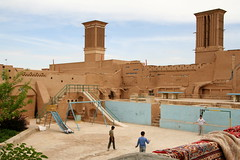 Football inmidst history (Leoniedas) Tags: kids football iran soccer centre middleeast persia historic windtowers yazd
