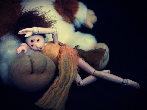 mini wooden bjd Third Eyed Girl