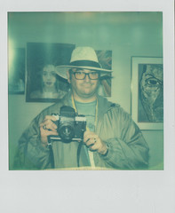Bill Loewy w/ left handed Kiev 6c (Jacob's Camera Closet) Tags: camera color film project polaroid sx70 instant sonar kiev protection 6c impossible