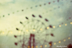 summer nights (life stories photography) Tags: carnival blue ohio summer sky abstract june festival night lights bokeh teal fair flags ferriswheel dreamy bunting 2013