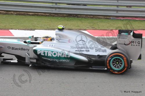Lewis Hamilton in qualifying for the 2013 British Grand Prix