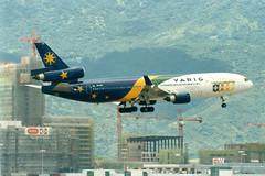 Varig | McDonnell Douglas MD-11 | PP-VPP | 1998 World Cup livery | Hong Kong International (Dennis HKG) Tags: plane airplane hongkong airport aircraft worldcup rg hkg md11 varig planespotting cheklapkok vrg 25l vhhh ppvpp