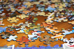 Jigsaw puzzle (MKendraB) Tags: colors puzzle piece jigsawpuzzle project365