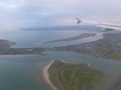 Dublin Airport approach (seikinsou) Tags: sea summer howth dublin beach strand golf airplane coast airport midsummer head flight aeroplane bull coastline approach aerlingus sutton dollymount portmarnock baldoyle