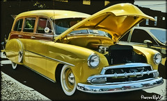 '52 Chevy Station Wagon (Photos By Vic) Tags: old classic chevrolet car yellow vintage wagon automobile antique chevy chrome transportation vehicle custom carshow 52 stationwagon 1952