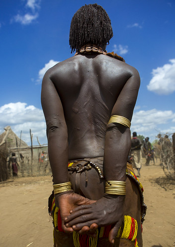 Hamer Woman With Scars On Her Back, Omo Valley, Ethiopia