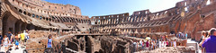 Colosseum Panorama (Zepsis) Tags: people italy panorama rome building monument architecture ancient bricks kitlens panoramic tourists colosseum stunning manmade 1855mm visitors touristattraction colosseo flavianamphitheatre canoneos450d rebelxsi