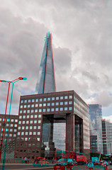 3d_shard (The_Jon_M) Tags: uk bridge england urban building london skyscraper londonbridge stereogram 3d july anaglyph greater shard 3ds greaterlondon 2013 theshard