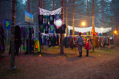 night shopping (Olga Kruglova) Tags: travel trees colors festival fog night forest shopping evening solar spring woods bright russia space joy scene psychedelic trance spb  2013 palty systo  kuolemajrvi