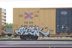 09012013 026 (CONSTRUCTIVE DESTRUCTION) Tags: train graffiti tag boxcar graff piece freight stek moniker