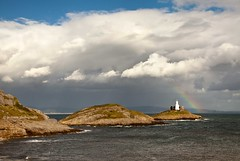Rainbow over Mumbles Lighthouse v 1 - Explore 17.9.13 Thanks! (Jo Evans1 - trying to catch up) Tags: sea lighthouse clouds rainbow mumbles yahoo:yourpictures=landscape
