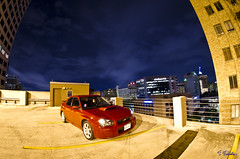 its a roof top kinda night2 (djericray) Tags: city longexposure nightphotography lightpainting rot abandoned nikon downtown alone decay neglected sb600 subaru wrx sti jdm fmic sanantonioriver 210 sanantoniotexas flashtrigger tokico nikkor105mmf28fisheye tmic sb700 nikond7000 panasoniclumixgx1 14mmf25pancake phottixares