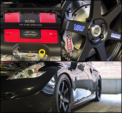 Nismo 370Z ([Mixtography]) Tags: auto city usa black color sc car wheel collage america japanese nissan south capital wheels fast automotive columbia carolina z 370 rims meet volk fairlady nismo calipers stoptech 370z mixtography
