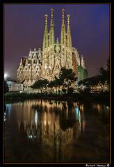 Sagrada Familia 2013 01 (Havaux Photo) Tags: barcelona robert canon famlia sagrada nocturno baslica sagradafamlia havauxphoto havaux
