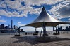 Shelter on pier (Edzone) Tags: clouds pier shelter lowermanhattan 1wtc