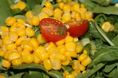 Salad with sweetcorn and rocket topped of with a tomato (WorldClick) Tags: red sun chicken crimson cheese french island cuisine ginger baking salad juicy healthy corn king ketchup herbs burger indian cucumber tomatoes walnuts continental peanuts raisins fresh dressing pizza lettuce potato hut health spices buns grapes lambs aubergine peppers mayo pakistani rocket rays onion chilli coriander cilantro beetroot paprika crunch cheddar thousand chana sweetcorn mayonaise italiano sundried chickpeas wholewheat mozzerella redonions gridle baigun tomatoesandspringonions