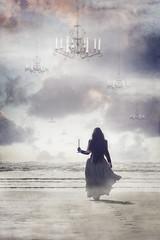 Beyond (lifecapturedbyneen) Tags: ocean cloud fog coast longhair chandelier beyond float calling candlestick fineartphotography whimsicalart conceptualphotography fairytalephotography