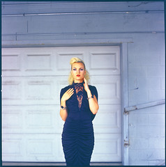 Forgotten Muse - Carolyn (mattbellphoto) Tags: 120 6x6 film fashion vintage kodak greensboro hasselblad ektachrome e6 e100vs expiredfilm 500cm 80mmf28 forgottenmuse carolynlaws