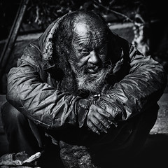 derailed humanity~ Tokyo (~mimo~) Tags: old portrait sun man japan dreadlocks beard tokyo asia homeless dirty unfortunate mimokhairphotography findingyourselfinthestreets fyits derailedhumanity