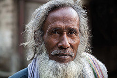 Portrait of a man in Kalimpong, India. (cookiesound) Tags: life portrait people india man face beard eyes asia expression oldman wrinkles kalimpong westbengal