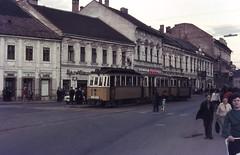 Once upon a time - Hungary - Miskolc / Mišcovec (railasia) Tags: hungary streetlife sixties tramstop mkv miskolc traminfra routenº2 motorcartrailer