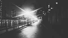 The way home. (Explored) (Linh H. Nguyen) Tags: flickrandroidapp:filter=none newyork night street monochrome urban bw silhouette light shadow smartphone htcone vscocam explored