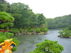Charizard in Hiroshima, Hiroshima 7 (Shukkei-en Garden) (Kasadera) Tags: toys hiroshima figure pokemon pokmon  charizard   glurak  shukkeiengarden pokemonkids   dracaufeu