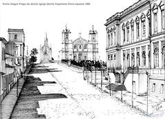 Porto Alegre Praça da Matriz Igreja Matriz Capelinha Forte Apache 1890