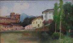 Eugenio Prati Il castello del Buonconsiglio acquerello