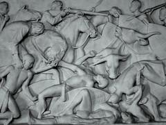 Frieze in Voortrekker Monument (Ilovetoxicwaste) Tags: horses white propaganda african tribes supremacist massacare