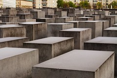 Berlin - Holocaust Memorial (phil_king) Tags: sculpture berlin art germany concrete holocaust memorial blocks denkmal