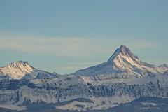 Schreckhorn - Gurten (Captures.ch) Tags: blue trees sky white snow black mountains clouds forest schweiz switzerland gray bern swissalps schreckhorn kanton