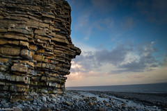 Rhoose Point (Only.Wales) Tags: sunset moon clouds coast cliffs storms valeofglamorgan rhoosepoint webw onlywales