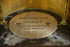 S Mary Mag Inscr (Michael Tinkler) Tags: foot latin inscriptions resurrection reliquary benedictxvi stmarymagdalene reliquaries