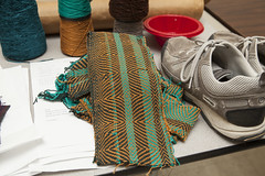 20140202__MG_4917_Yarn_To_Garment (Pat Kilkenny) Tags: ohio color wool fashion yarn fabric weaving weave oberlin garment 2014 oberlincollege 13thannual betsybruce yarntogarment