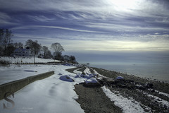 Snow on Gulf Beach- (Singing With Light) Tags: morning ice beach fog photography pier gulf pentax january 8 february k3 2014 ctwinter gulfbeach miilford lismanlanding singingwithlight singingwithlightphotography