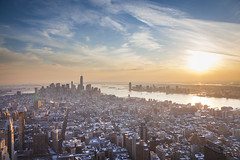 Sunset from Empire State Building, New York (Jonathan Cretton) Tags: new york nyc building state esb empire
