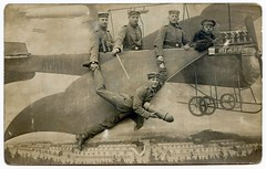 WW1 madness (unexpectedtales) Tags: world plane vintage germany 1 photo war with postcard air snapshot german service ww1 taube brandenburg bi troops aviatik waffenrock etrich