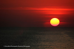 Fiery Sunset Paints the Sky (dynamism photography by shawnbush.photography) Tags: ocean travel cruise sunset red sea sky orange sun color yellow marine surreal fiery seascpae