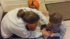 "Mommy and Paul Decorate Pumpkins • <a style=""font-size:0.8em;"" href=""http://www.flickr.com/photos/109120354@N07/32298282083/"" target=""_blank"">View on Flickr</a>"