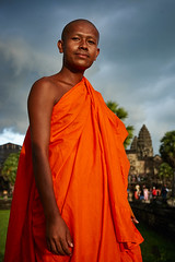 Monk at Angkor Wat, Angkor, Cambodia 1 (Alex_Saurel) Tags: buddhist clothes ancient monk bassin orientation photospecs architecture fullframe bouddhisme imagetype fullbody moine portrait garden religion pleinformat portray cambodge stockcategories photoreportage people buddhism archicategory kesa weather reportage man photojournalism portraiture traditional style planpied photoreport vertical nature scans adult time tradition type religieux pond asia temple culture day sunset planitalien travel detail sony50mmf14sal50f14