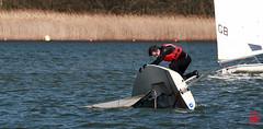 L'eau est froide ....heureusement il a une combinaison (mamnic47 - Over 7 millions views.Thks!) Tags: saintquentinenyvelines yvelines voilier basenautique désalages img3626 roselière étang