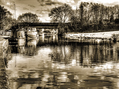Boats (Gallery North) Tags: leeds west yorkshire rodley canal waterways barges boats hdr towpath