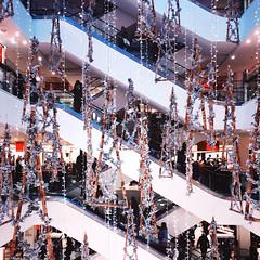 Christmas (Olly Denton) Tags: architecture decoration trees christmas festive shopping interior christmastrees up lights shine iphone iphone6 6 vsco vscocam vscolondon ios apple mac shotoniphone peterjones johnlewis sloanesquare rbkc london uk