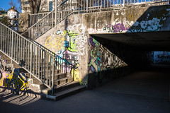 Graz, 2017 (Erwin Burgstaller) Tags: graz steiermark österreich triangle chaos radweg graffiti bycicle shadow schatten murpromenade vistigraz