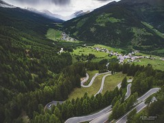 The mind-blowing Umbrail Pass. (God_speed) Tags: umbrail pass switzerland swiss alps swissera swissalps mountain amazing best road touring europe tour winding hairpin laissez twists tight turns trip journey outdoor drone dji phantom 3 professional aerial stelvio