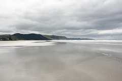 A beach just for me (Karen Pincott) Tags: waimaramabeach hawkesbay newzealand beach sand calm clouds sea peaceful deserted
