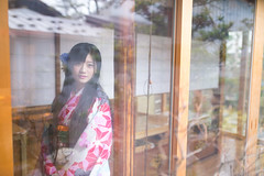 Japanese young woman in Kimono in traditional house, seeing through window (Apricot Cafe) Tags: img26592 2024years asia asianandindianethnicities ishikawaprefecture japan japaneseethnicity japaneseculture kanazawa kimono reflection sigma35mmf14dghsmart architecture charming cheerful citylife corridor day enjoyment fashion freedom freshness hairaccessory happiness horizontal house indoors lifestyles longhair lookingatcamera oldfashioned oneperson onlywomen photography portrait relaxation sitting smiling springtime tatamimat threequarterlength tourism traditionalclothing tranquility travel traveldestinations waistup walking weekendactivities window women youngadult kanazawashi ishikawaken jp