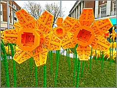 """Lego""  Built Daffodil Display .. (** Janets Photos **) Tags: uk hullcityofculture2017 citycentres legobricks arts culture"